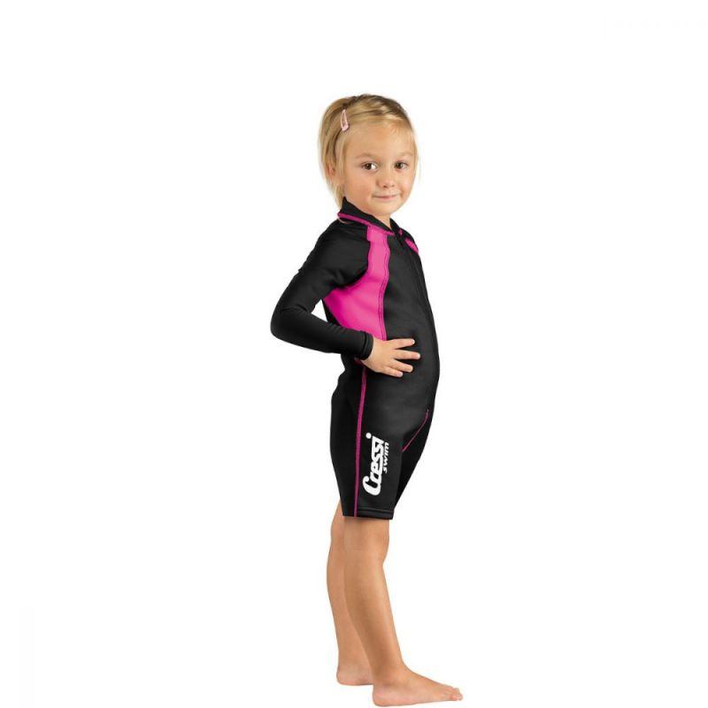 CRESSI Shorty Gyerek Kids Black/Pink Shorty Long Sleeve