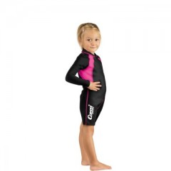 CRESSI Shorty Gyerek Kids Black/Pink Shorty Long Sleeve Gyerek